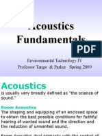 Acoustics  Fundamentals