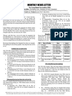 YBA Monthly News Letter for the month of July 2014