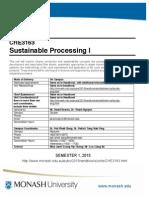 CHE3163 Unit Guide