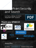 SharePoint Saturday KC 2015 - Security and Search.pptx