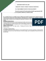 201308 Semester I MB0040 Statistics for Management FLEXI