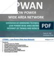 Overview of emerging technologies for low power wide area networks in Internet of Things (IoT) and M2M scenarios