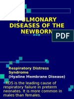 Pulmonary Diseases of the Newborn