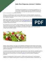 Alimentacion Saludable Para Pequenos, Jovenes Y Adultos