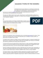 Fomento De Dietas Apropiadas Y Estilos De Vida Saludables