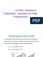 Behavior of Wire, Resistors, Capacitors, Inductors at high frequencies.ppt