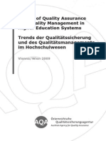 Trends of QA and QM in HEI 2009