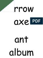 'a' Word Flashcards