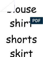 Clothes Flashcard Words (1)