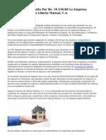 Sancionada Con Multa Por Bs. 34.550,00 La Empresa Seguros Caracas De Liberty Mutual, C.A.