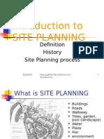 Site Planning 2