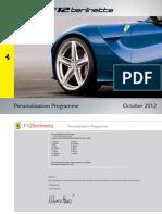 Personalization Programme F12 201210