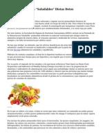 """Los Contras De Las """"Saludables"""" Dietas Detox"""