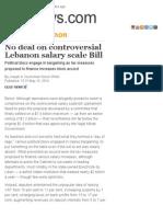 No deal on controversial Lebanon salary scale Bill | GulfNews.com