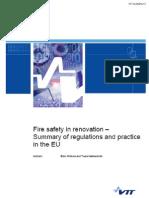 Fire Safety in Renovation Summary Report Vtt r 03472 12 Web Final 07-06-2012