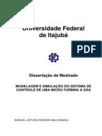 Modelagem e Simulação Do Sistema de Controle de Uma Micro Turbina