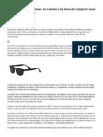5 cosas que debes tener en cuenta a la hora de comprar unas lentes de sol online