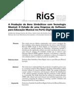 A Produção de Bens Simbolicos. REVISTA RIGS_v2_n2_art3. 2013
