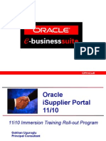 11i10 Immersion Training Oracle ISupplier Portal Webcast November2004