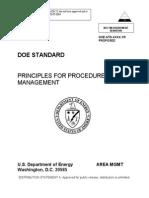 Principles for Procedure System Management