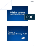 Hybris Developer Training Part II - Commerce - Module 02 - Software Developer Review