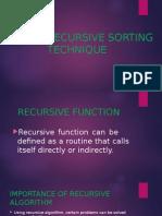 Recursive Sorting Technique