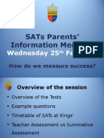 sats workshop to parents 2015
