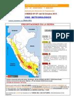 Boletin Aviso Meteorológico - InDECI Nº 071 Del 02-10-2014