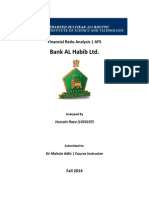 Ratio Analysis Bank AL Habib Ltd.