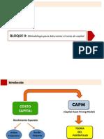 BLOQUE II_Metodología Para Determinar El Costo de Capital