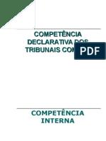 Competência Interna Dos Tribunais