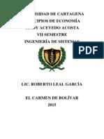 Cindy Acevedo Trabajo Economia