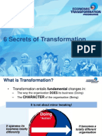 6 Secrets of Transformation-1 April 2011