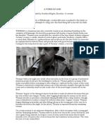 Film Treatment - A Foreign God - Jonathan Hughes