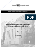 Operational Risk in Payment