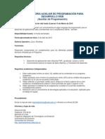 Convocatoria Desarrollo Web 2015