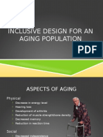inclusive design for an aging population