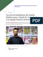 Uno de Los Fundadores de Charlie Hebdo Acusa a Charb de Arrastrar a Su Equipo Hasta La Muerte