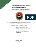 Condori Huanca (2014) Factores, Conduta Agresiva