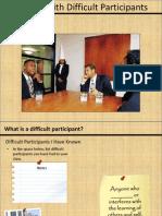 difficult participants handout