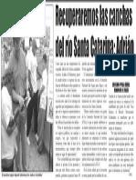 14-03-15 Recuperaremos las canchas del río Santa Catarina