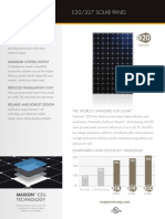 SunPower E20 327 Spec Sheet