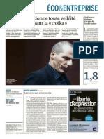 Le Monde Eco entreprise 11-03-2015