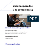 Instrucciones Para Los Cursos 2015