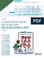 Mouvement de la qualité relation client