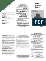 December 28, 2014 Trifold Bulletin