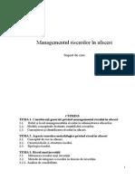 Managementul Riscurilor În Afaceri