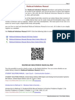 Mathcad Solutions Manual