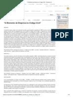 O Elemento de Empresa No Código Civil_ - Doutrinas UJ
