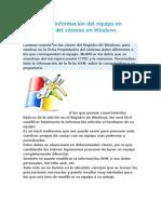 Modificar La Información Del Equipo en Propiedades Del Sistema en Windows